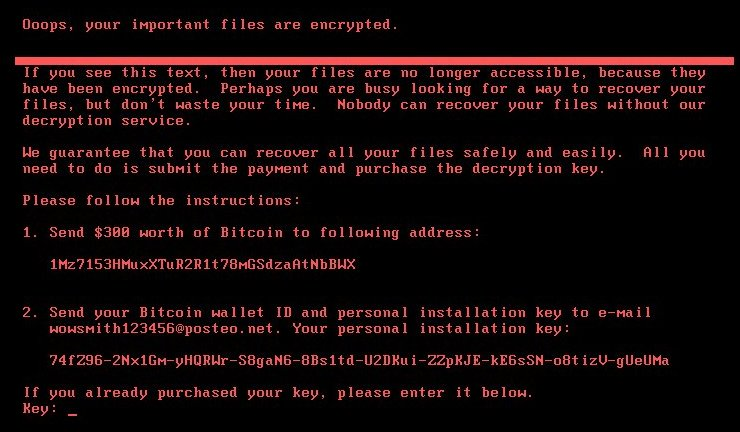 Petya file criptati