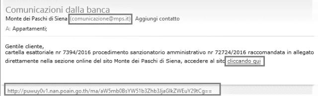 esempio email spam banca