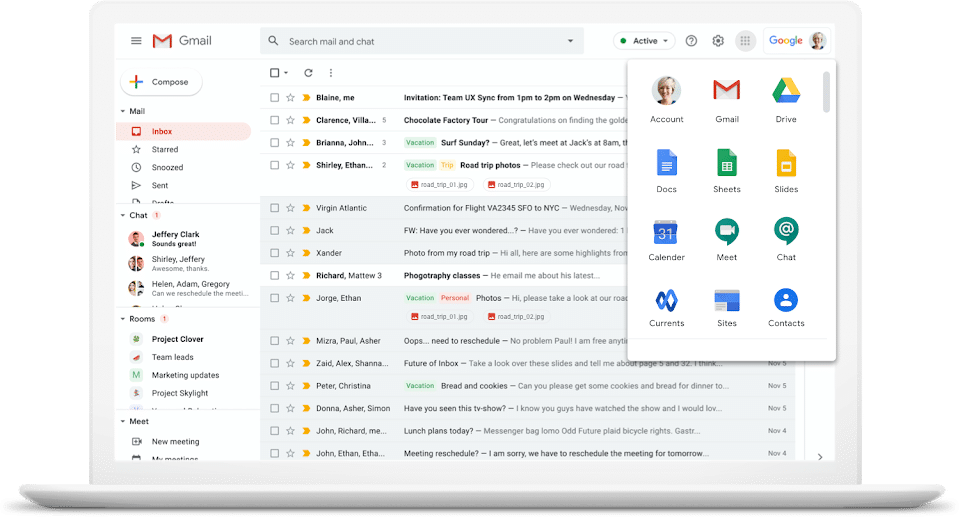 schermata gmail